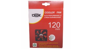 COOLER FAN 12X12 PARA GABINETE 120MM DC12V PRETO