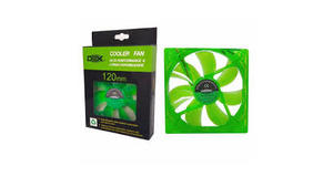 COOLER FAN VERDE 120MM X 120MM LED DEX - DX-12L