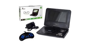 DVD PORTATIL COM TV E GAMES USB/SD KP-D114 KNUP