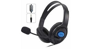 FONE PS4 GAMER C/ MICROFONE E FONE PLUG P2 3,5MM PS4 XBOX ONE PC